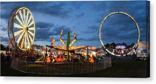 Fire Ball Canvas Print - Kimberton Fair Panorama by Michael Porchik