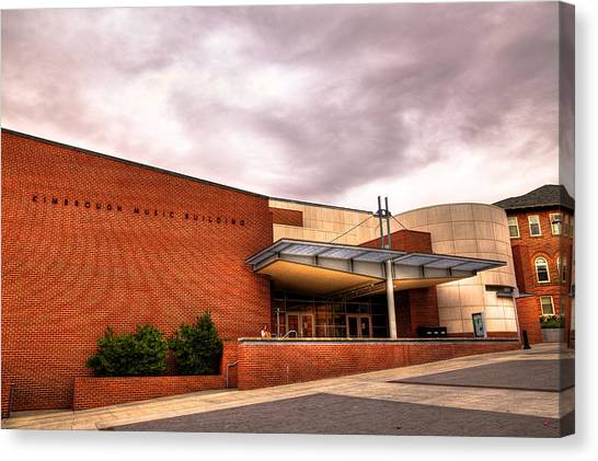 Washington State University Canvas Print - Kimbrough Music Building On The Wsu Campus by David Patterson