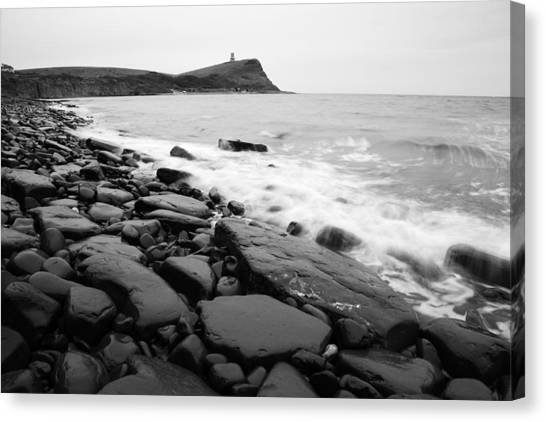 Kimmeridge Bay In Black And White Canvas Print
