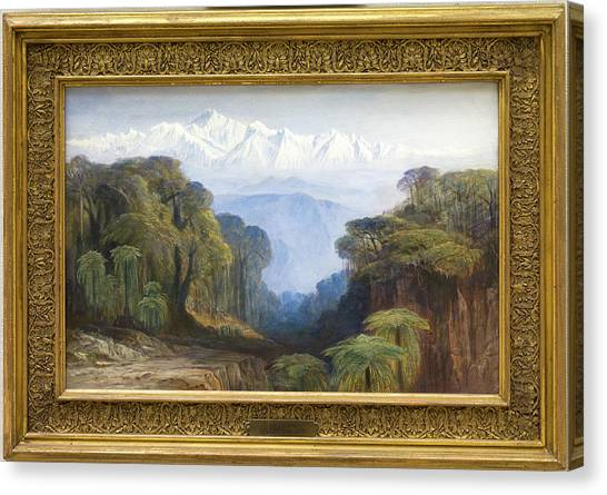 Kangchenjunga Canvas Print - Kinchinjunga, Edward Lear, 1812-1888 by Litz Collection