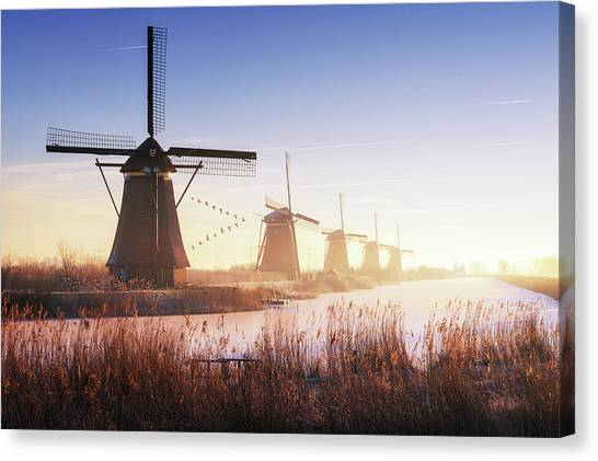 Holland Canvas Print - Kinderdijk 4. by Juan Pablo De