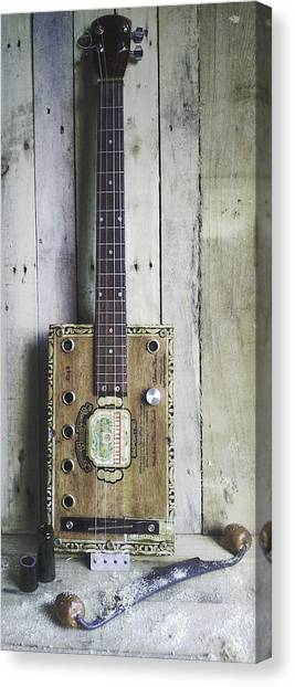 Slide Guitars Canvas Print - King B by Leonard Lhos