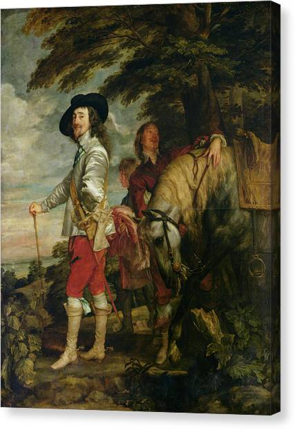 Spurs Canvas Print - King Charles I 1600-49 Of England Out Hunting, C.1635 Oil On Canvas by Sir Anthony van Dyck