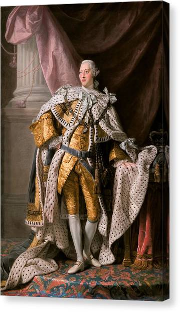 King George IIi In Coronation Robes Canvas Print