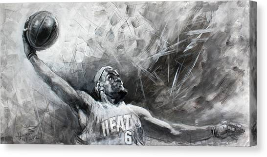 Athlete Canvas Print - King James Lebron by Ylli Haruni