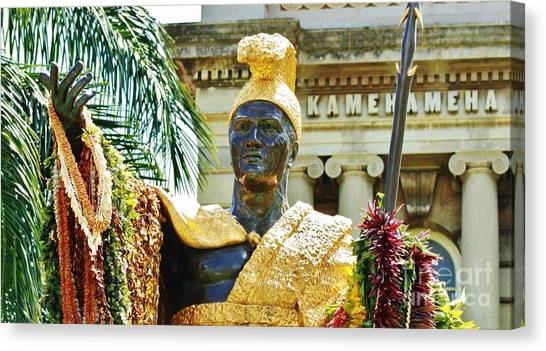 King Kamehameha The First Canvas Print by Craig Wood