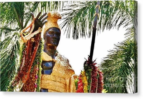 King Kamehameha The Great Canvas Print by Craig Wood