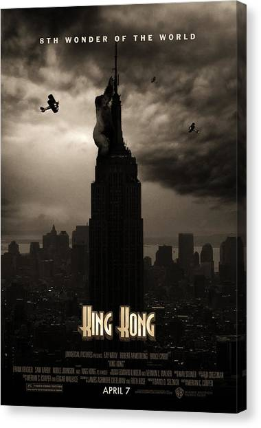 Gorillas Canvas Print - King Kong Custom Poster by Jeff Bell