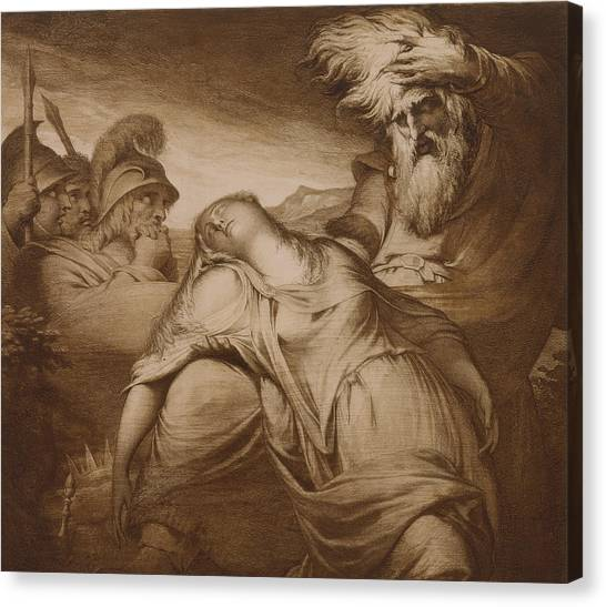 English And Literature Canvas Print - King Lear And Cordelia by James Barry