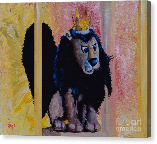 Reindeer Canvas Print - King Moonracer by Alys Caviness-Gober