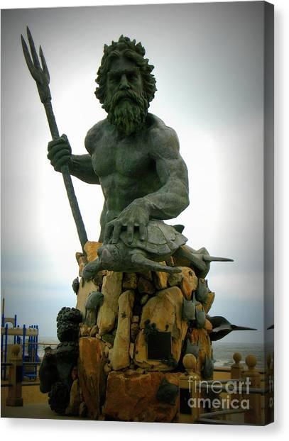 King Neptune Statue Canvas Print