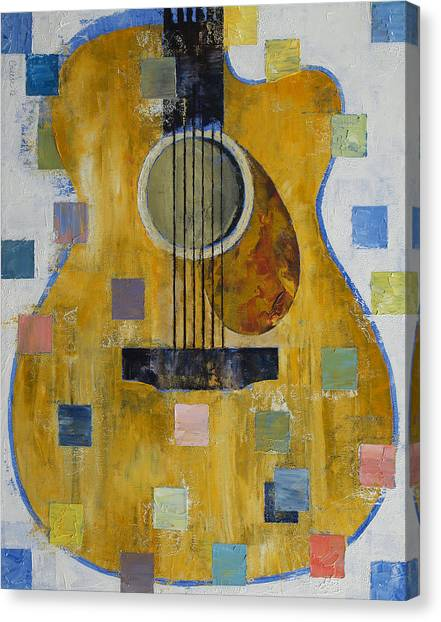 Cubism Canvas Print - King Of Guitars by Michael Creese