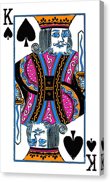 King Of Spades - V3 Canvas Print