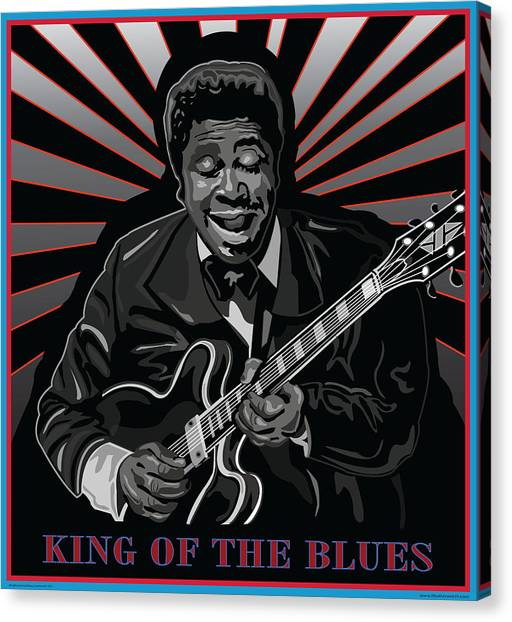 King Of The Blues Canvas Print by Larry Butterworth