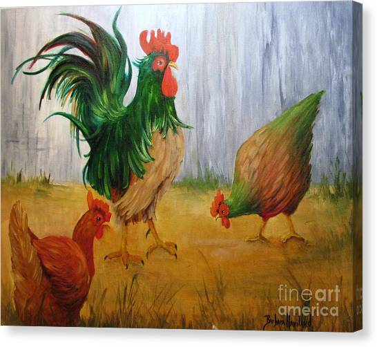 King Of The Chicken Yard Canvas Print