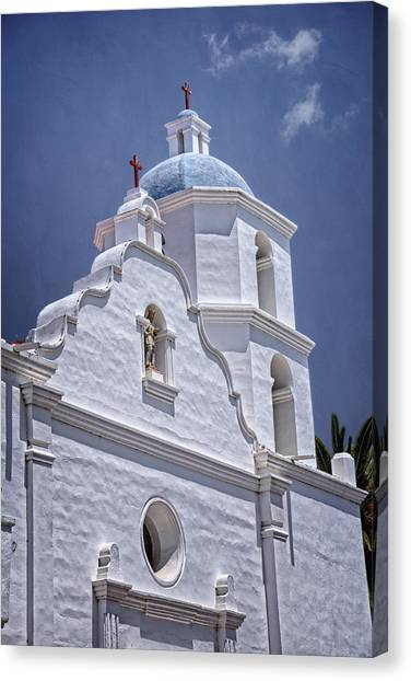 Mission San Diego Canvas Print - King Of The Missions by Joan Carroll