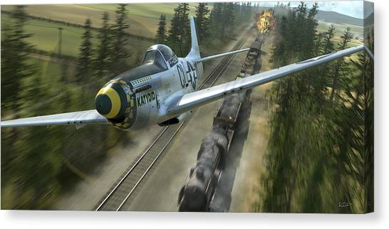 Aircraft Canvas Print - King Of The Strafers by Robert Perry