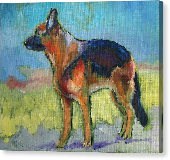 King The German Shepherd Dog Canvas Print