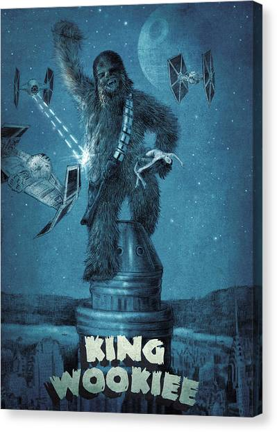 Kings Canvas Print - King Wookiee by Eric Fan