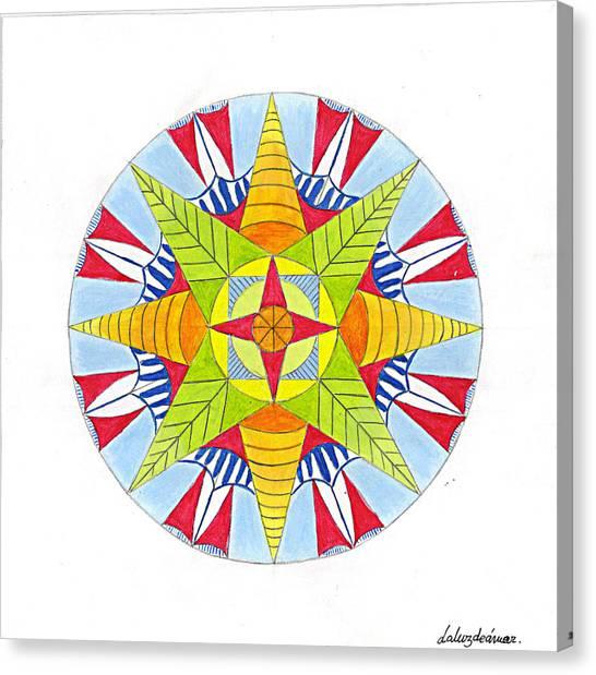 Kingdom Mandala Canvas Print by Silvia Justo Fernandez