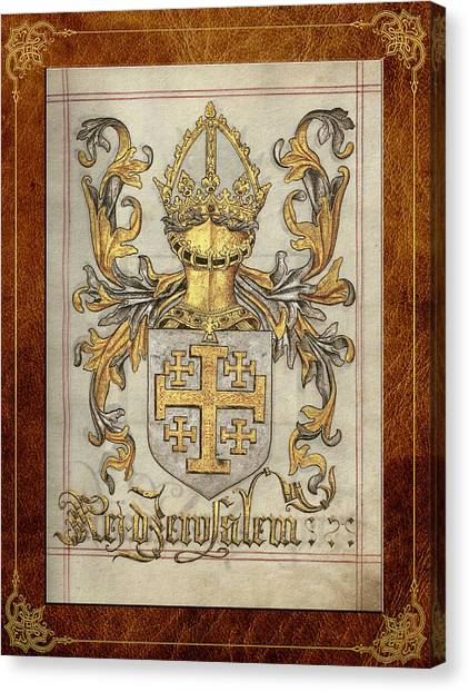 Kingdom Of Jerusalem Medieval Coat Of Arms  Canvas Print
