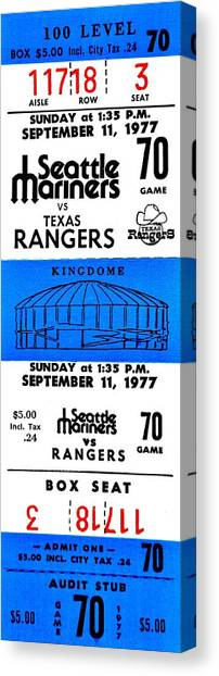 Seattle Mariners Canvas Print - Kingdome Baseball by Benjamin Yeager