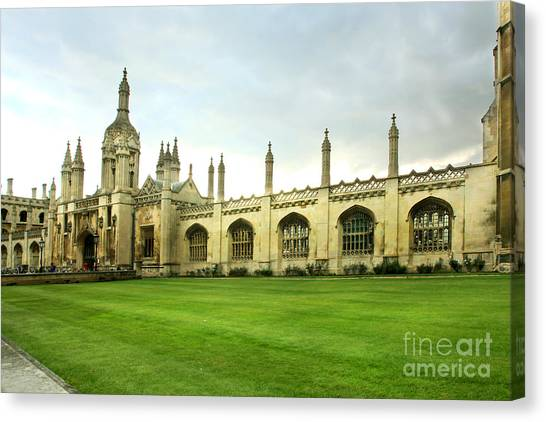 King's College Facade Canvas Print
