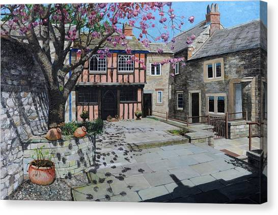 Peak District Canvas Print - Kings Court, Bakewell, Derbyshire, 2009 Oil On Canvas by Trevor Neal