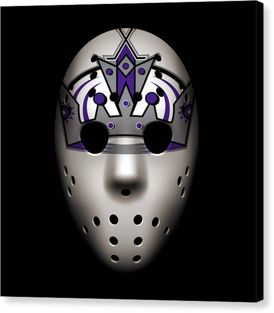 Los Angeles Kings Canvas Print - Kings Goalie Mask by Joe Hamilton