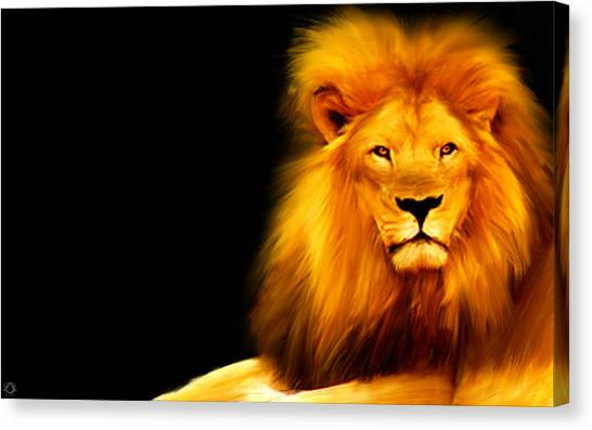 Kenyan Canvas Print - King's Portrait by Lourry Legarde