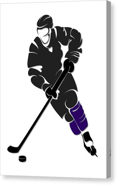 Los Angeles Kings Canvas Print - Kings Shadow Player by Joe Hamilton