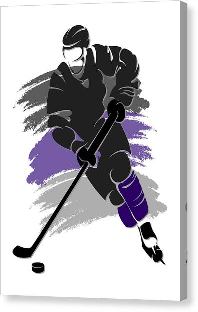 Los Angeles Kings Canvas Print - Kings Shadow Player2 by Joe Hamilton