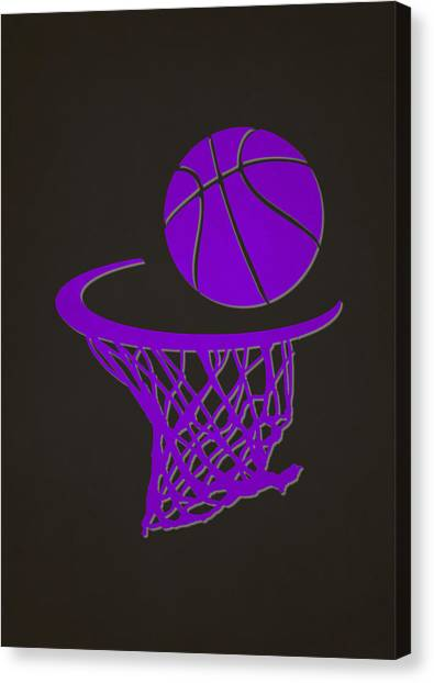 Sacramento Kings Canvas Print - Kings Team Hoop2 by Joe Hamilton