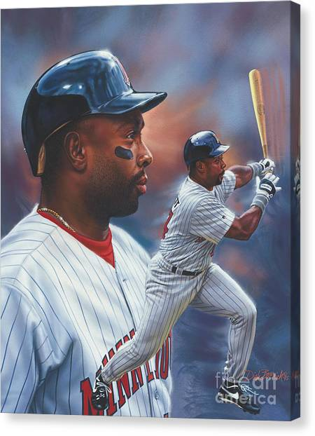 Minnesota Twins Canvas Print - Kirby Puckett Minnesota Twins by Dick Bobnick