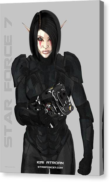 Science Fiction Canvas Print - Kiri Atroan Print #1 by Donnie Maynard Christianson