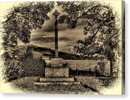 Kirknewton War Memorial Northumberland Canvas Print