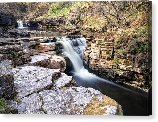 Kisdon Force Waterfall Canvas Print by Chris Frost