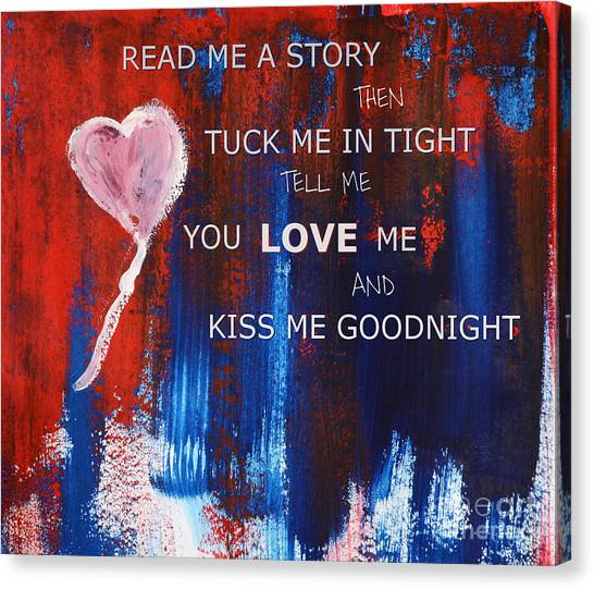 Kiss Me Goodnight Canvas Print