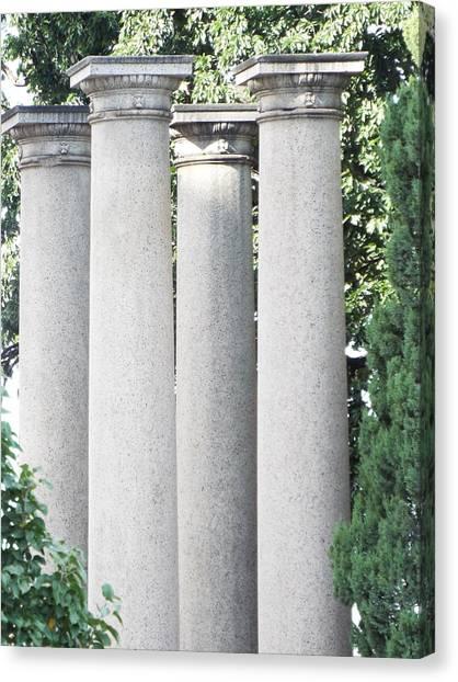 University Of Nebraska Canvas Print - Kissing Columns University Of Nebraska by Caryl J Bohn