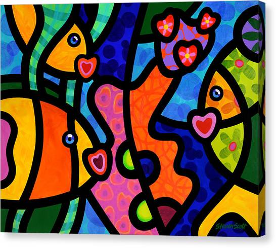 Kissing Fish Reef Canvas Print