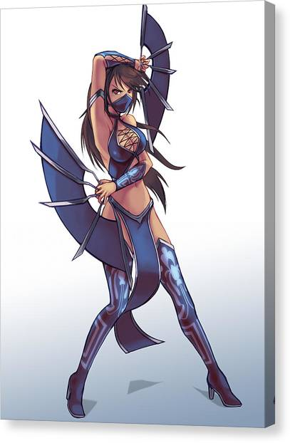 Mortal Kombat Canvas Print - Kitana by Nick Savino