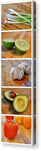 Kitchen Collage Canvas Print