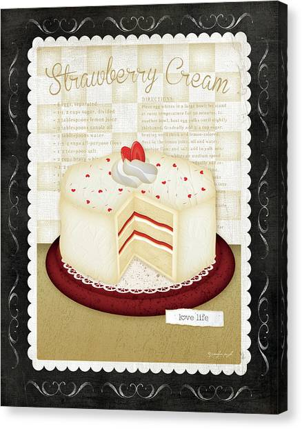 Cakes Canvas Print - Kitchen Cuisine_dessert by Jennifer Pugh