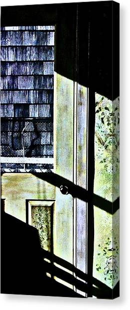 Kitchen Door At Alice Brock's Canvas Print by Mike McCool