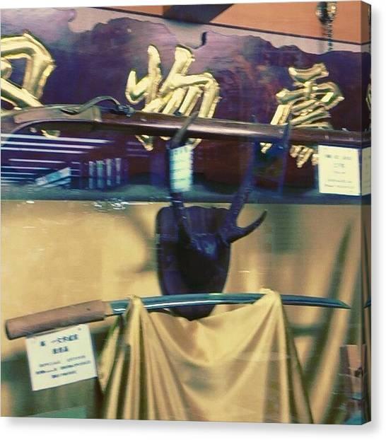 Samurai Canvas Print - Kitchen Knife Of Sakai by My Senx