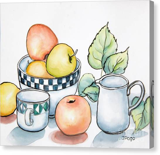 Kitchen Still Life Sketch Canvas Print