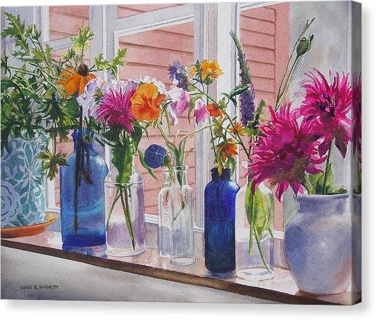 Kitchen Window Sill Canvas Print