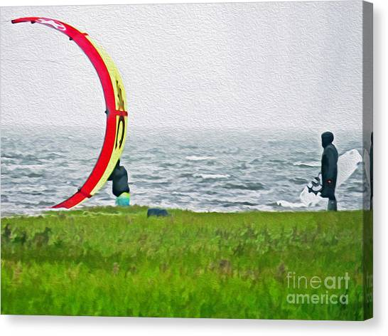 Kite Boarder Canvas Print