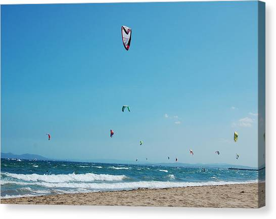 Kitesurf Lovers Canvas Print