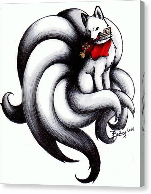 Kitsune Canvas Print by Bibo
